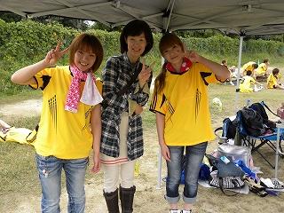 かわいいマネージャーと綺麗な事務長(^^) 応援ありがとうございます。