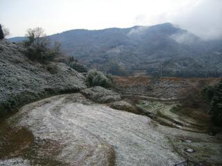 秀華苑から眺める雪景色